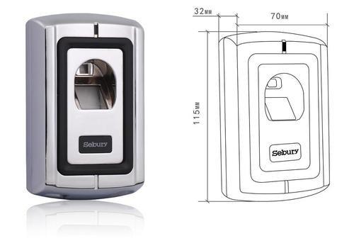 sebury f007 2 fingerprint t rschloss das andere. Black Bedroom Furniture Sets. Home Design Ideas